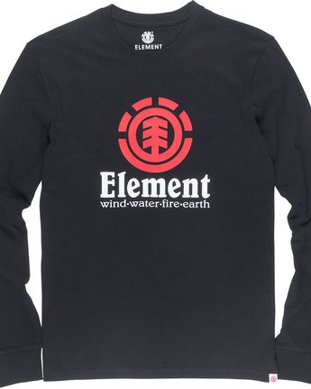 4 Vertical Ls - Tee Shirt for Men Black N1LSB1ELP9 Element