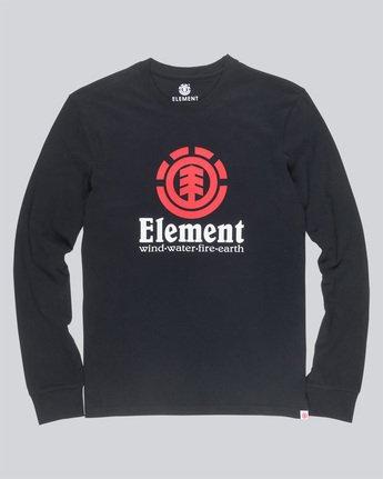 3 Vertical Ls - Tee Shirt for Men Black N1LSB1ELP9 Element