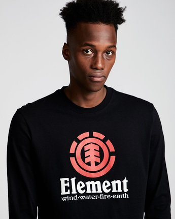 1 Vertical Ls - Tee Shirt for Men Black N1LSB1ELP9 Element