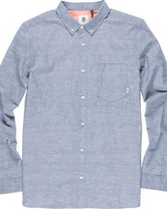 4 Greene Neps Ls - Shirt for Men Blue N1SHA9ELP9 Element