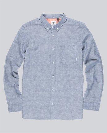 3 Greene Neps Ls - Shirt for Men Blue N1SHA9ELP9 Element