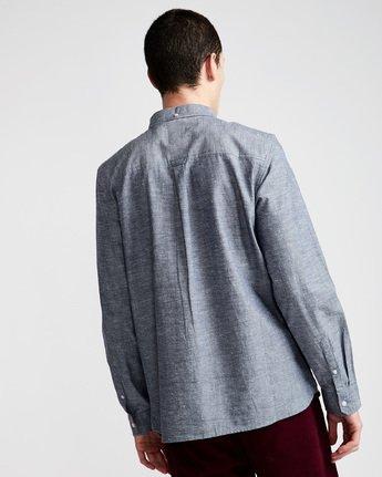 2 Greene Neps Ls - Shirt for Men Blue N1SHA9ELP9 Element