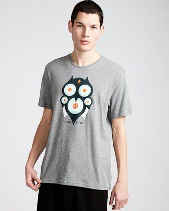 0 Hoot Ss - Tee Shirt for Men Grey N1SSA1ELP9 Element