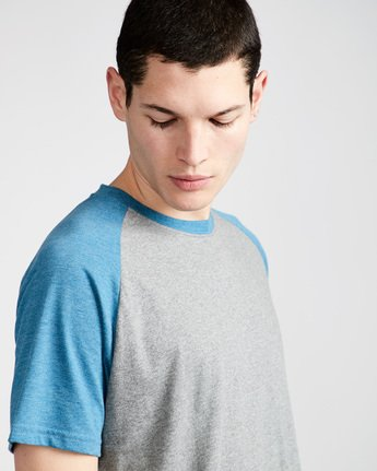 1 Basic Raglan Ss - Tee Shirt for Men Blue N1SSA2ELP9 Element
