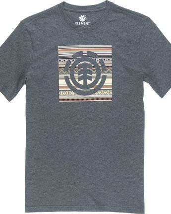 4 Indiana Logo Block S - Tee Shirt for Men Grey N1SSA5ELP9 Element
