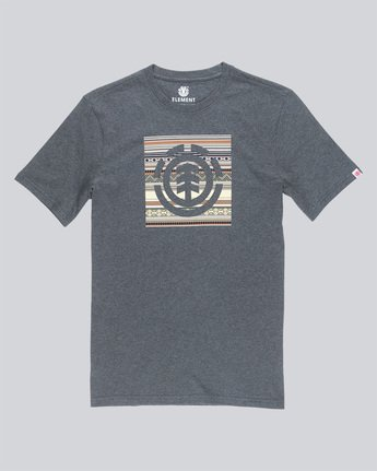 3 Indiana Logo Block S - Tee Shirt for Men Grey N1SSA5ELP9 Element