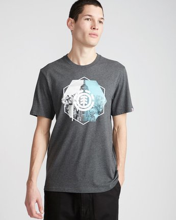0 Rotation Ss - Tee Shirt for Men Grey N1SSA9ELP9 Element
