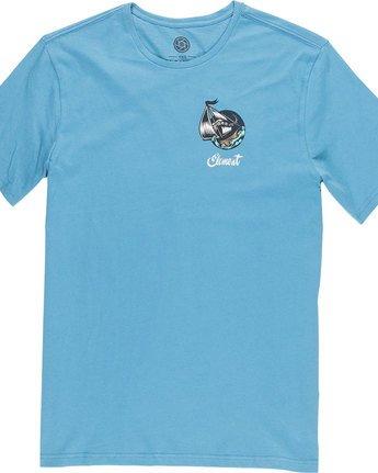 6 Craken Ss - Tee Shirt for Men Blue N1SSD4ELP9 Element