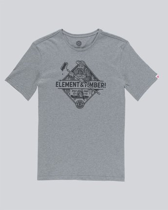 3 Rolling Ss - Tee Shirt for Men Grey N1SSD9ELP9 Element