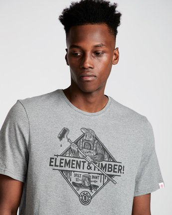 1 Rolling Ss - Tee Shirt for Men Grey N1SSD9ELP9 Element