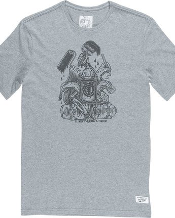 4 By Hand Ss - Tee Shirt for Men Grey N1SSE3ELP9 Element