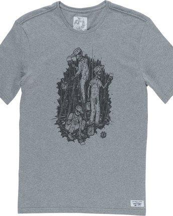 4 Night Shift Ss - Tee Shirt for Men Grey N1SSE4ELP9 Element