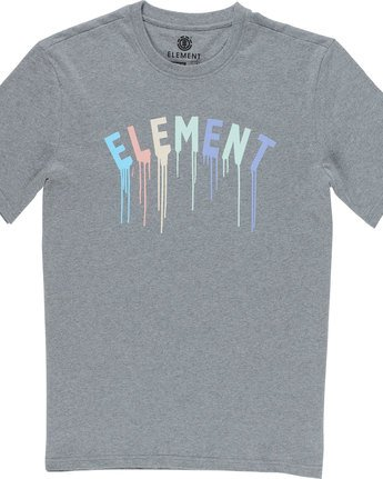 4 Stencil Ss - Tee Shirt for Men Grey N1SSE6ELP9 Element