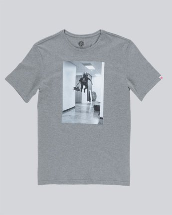 3 Hr Ss - Tee Shirt for Men Grey N1SSE7ELP9 Element