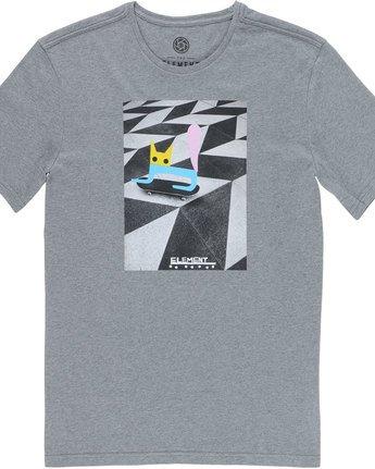 1 El Gato Ss - Tee Shirt for Men Grey N1SSE8ELP9 Element