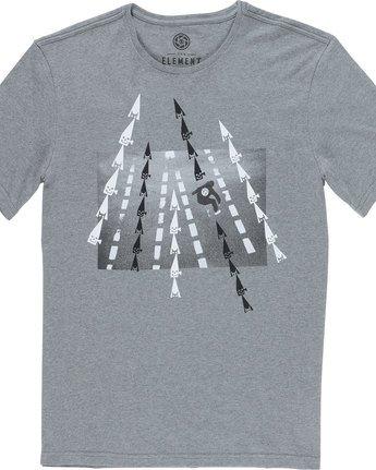 4 Nassim Ss - Tee Shirt for Men Grey N1SSF7ELP9 Element