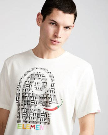 1 Pimiento Ss - Tee Shirt for Men White N1SSF8ELP9 Element