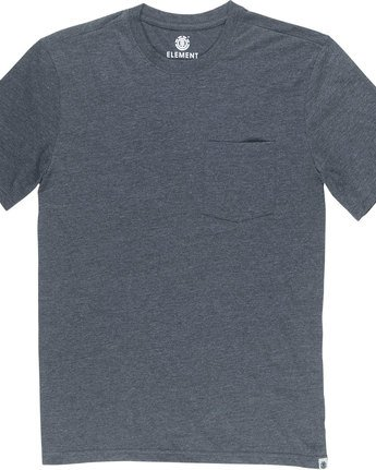 4 Basic Pocket Cr Ss - Tee Shirt for Men Grey N1SSG2ELP9 Element