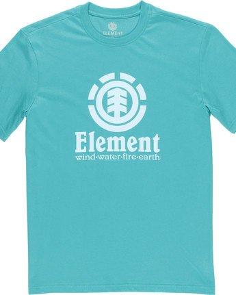 4 Vertical - Short Sleeve T-Shirt for Men Green N1SSG4ELP9 Element