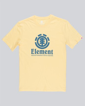 3 Vertical - T-Shirt Yellow N1SSG4ELP9 Element