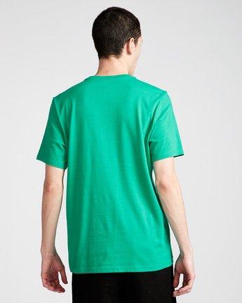 2 Vertical - Short Sleeve T-Shirt for Men Green N1SSG4ELP9 Element