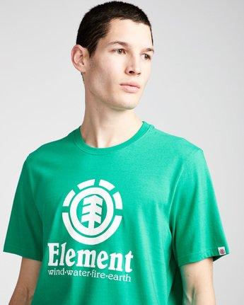 1 Vertical - Short Sleeve T-Shirt for Men Green N1SSG4ELP9 Element