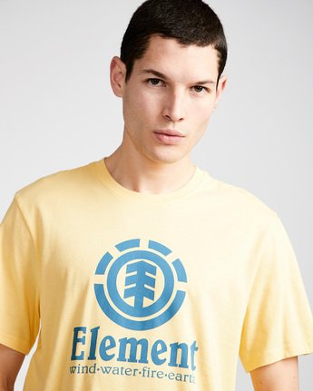 1 Vertical - T-Shirt Yellow N1SSG4ELP9 Element