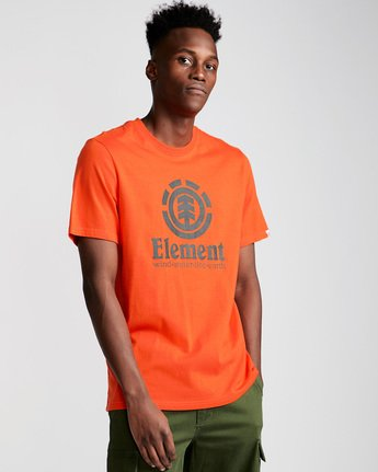 0 Vertical - Short Sleeve T-Shirt for Men Red N1SSG4ELP9 Element