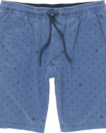 1 Altona Print Wk - Walkshort for Men Blue N1WKA5ELP9 Element