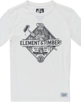 1 Rolling Ss Boy - Tee Shirt for Boys White N2SSC2ELP9 Element