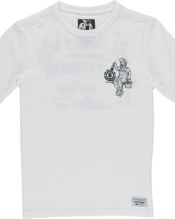 2 Crew Ss Boy - Tee Shirt for Boys White N2SSC3ELP9 Element