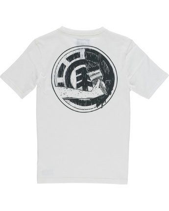 3 Painted Ss Boy - Tee Shirt for Boys White N2SSC4ELP9 Element