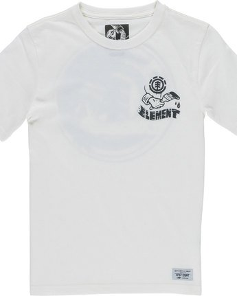 2 Painted Ss Boy - Tee Shirt for Boys White N2SSC4ELP9 Element