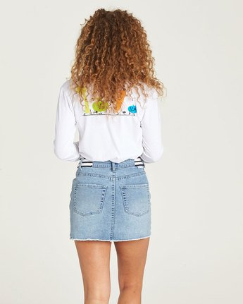 2 Yawyd Ls - Tee Shirt for Women White N3LSA8ELP9 Element