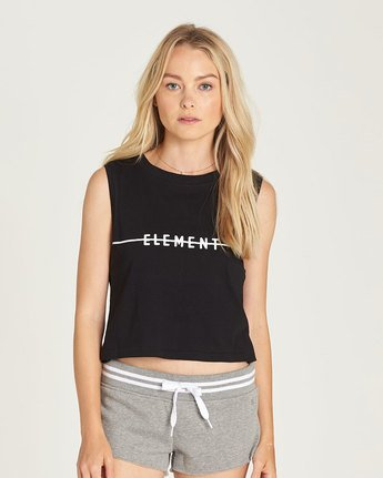 Line Logo Crop Tank - Tee Shirt for Women  N3SGA2ELP9