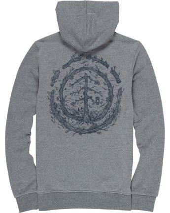 6 Too Late Logo - Hoodie Grey Q1HOC3ELF9 Element