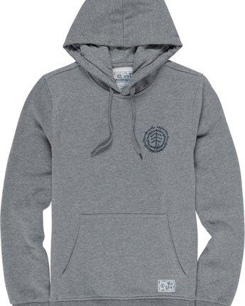 5 Too Late Logo - Hoodie Grey Q1HOC3ELF9 Element