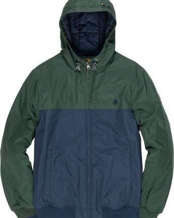 5 Dulcey 2 Tones - Hooded Jacket Green Q1JKB3ELF9 Element