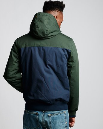 3 Dulcey 2 Tones - Hooded Jacket Green Q1JKB3ELF9 Element