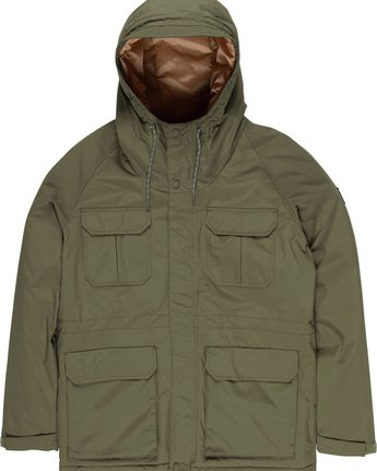 1 Hawk - Parka para Hombre Verde Q1JKC2ELF9 Element