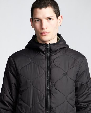 2 Albee - Hooded Jacket Black Q1JKC9ELF9 Element