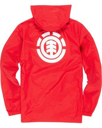 5 Primo Alder - Hooded Coach Jacket Red Q1JKE4ELF9 Element