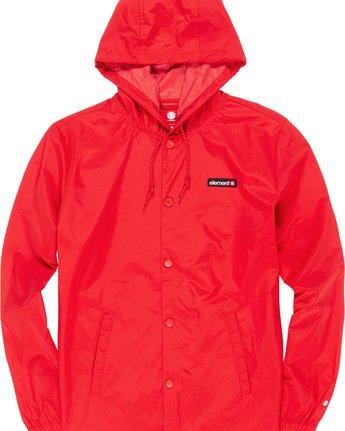 4 Primo Alder - Hooded Coach Jacket Red Q1JKE4ELF9 Element