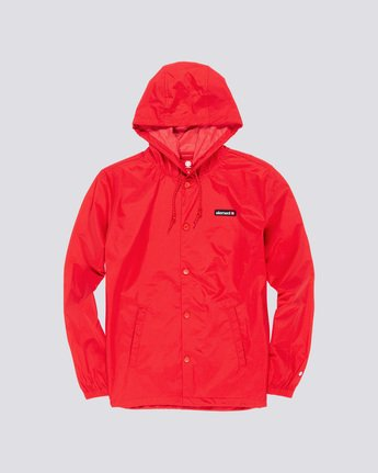 2 Primo Alder - Hooded Coach Jacket Red Q1JKE4ELF9 Element