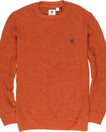 4 Kayden - Pullover für Männer Orange Q1JPA1ELF9 Element