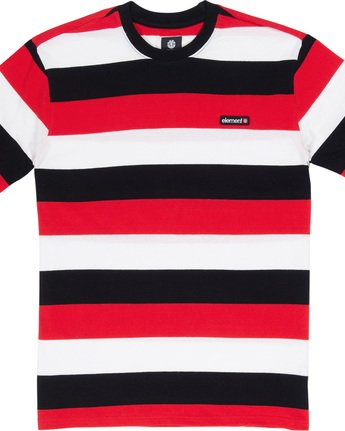 4 Primo Striped - T-Shirt Red Q1KTA1ELF9 Element