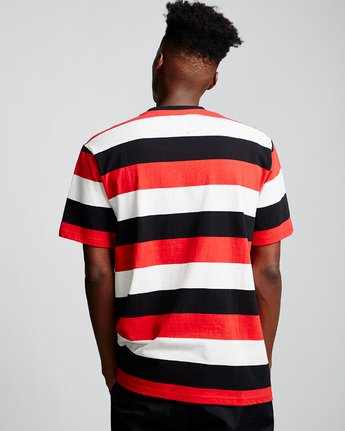 2 Primo Striped - T-Shirt Red Q1KTA1ELF9 Element