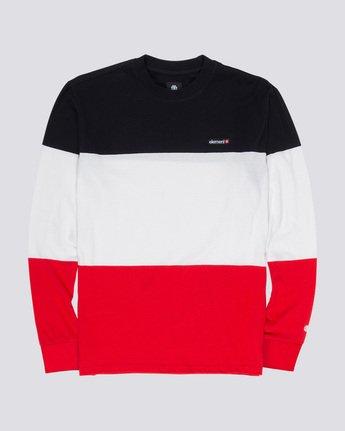 3 Primo Division - Long Sleeve T-Shirt Red Q1KTA2ELF9 Element