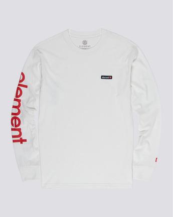 3 Primo - Long Sleeve T-Shirt White Q1LSA1ELF9 Element
