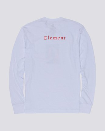 4 SD - Long Sleeve T-Shirt White Q1LSA2ELF9 Element
